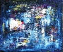 89   FRONT DE MER LA NUIT  2011  HUILE SUR TOILE  50 x 60